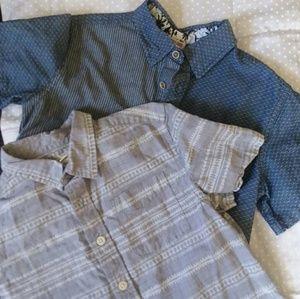 *2 FOR 1!* 2 boy's size M short sleeve dress shirt